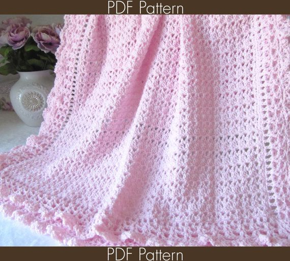 Crochet Baby Blanket PATTERN 89 - Victorian Series ...