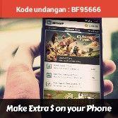 Jangan lupa masukin kode BF95666