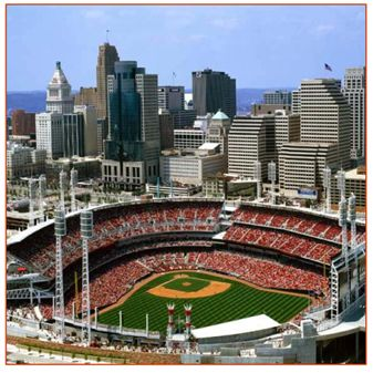Cincinnati Reds stadium - just down the street from the convention center!