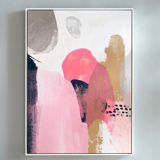Art/wall Decor - If you feel that as a creative individual, you aren't always easily defined or boxed within the rules or strict image, you'll relate even more to our beautiful pink and navy Artwork. With soft, warm coloring, this abstract print on canvas creates a presence that explores a sense of being, blending, and connection in a fluid way. Stunning on any wall, it's a work that can make a statement in your home that manages to be both welcoming and endlessly intriguing. The artwork...