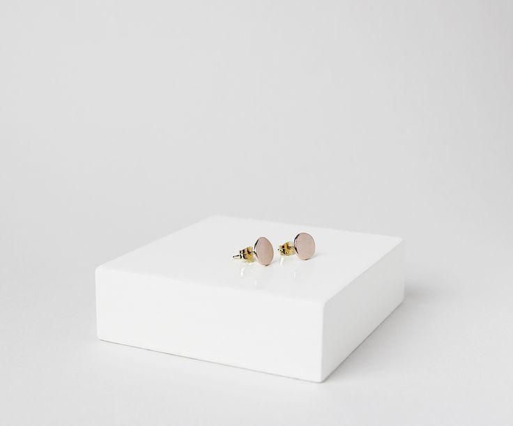 Bespoke rose gold earrings - SIGNED