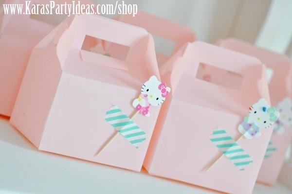 Hello Kitty Birthday Party via Kara's Party Ideas Ideas - Darling gable boxes