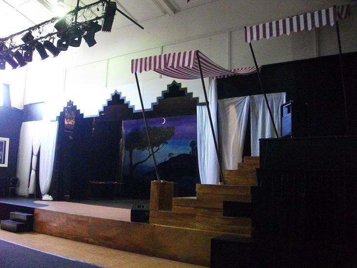 Aladdin side of stage