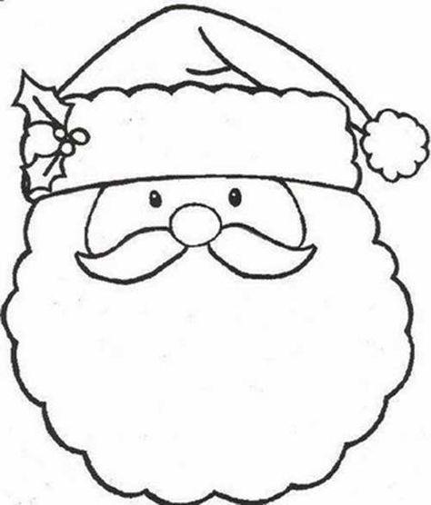 Moldes De Santa Claus En Fieltro Para Imprimir Hojas De Navidad Para Colorear Dibujos De Navidad Muneco De Nieve Dibujo