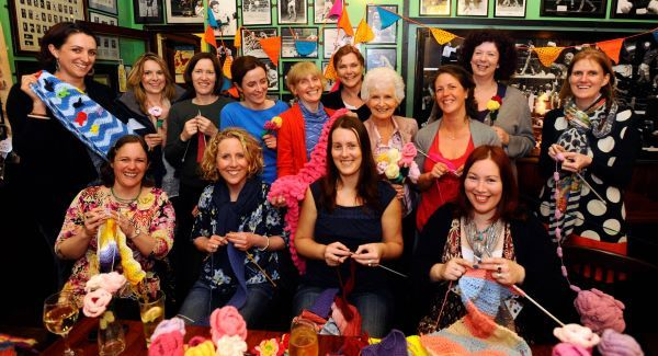 Crosshaven Knitters prepare for their CraftBomb