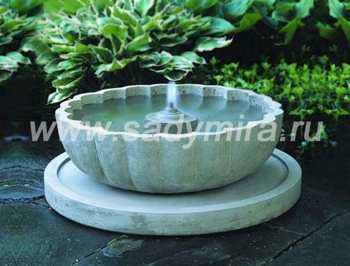 Фонтаны ракушки-чаши из камня (гранита) маленькие - продажа и изготовление