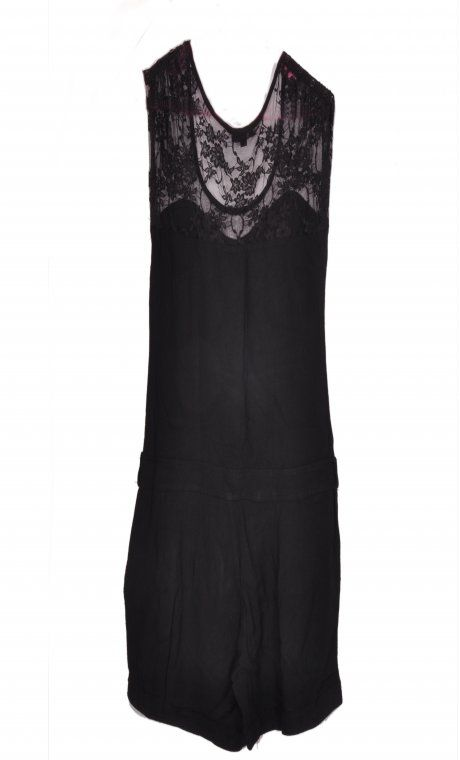 Charlise Black Lace Playsuit