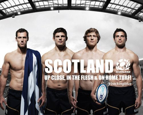 Tim Visser, Ross Ford, Dave Denton and Sean Lamont - Hello Scotland!