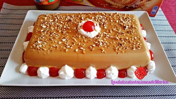 Tarta-Flan de dulce de leche y galletas | Cocina