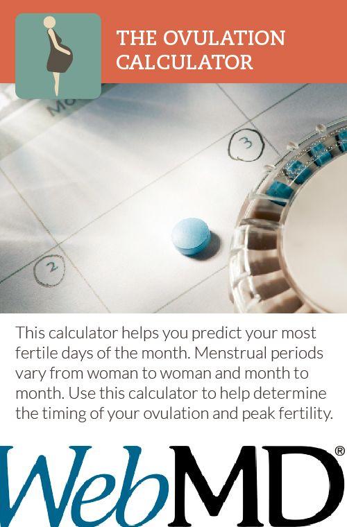 Ovulation Calendar Webmd : Best ideas about ovulation calculator on pinterest