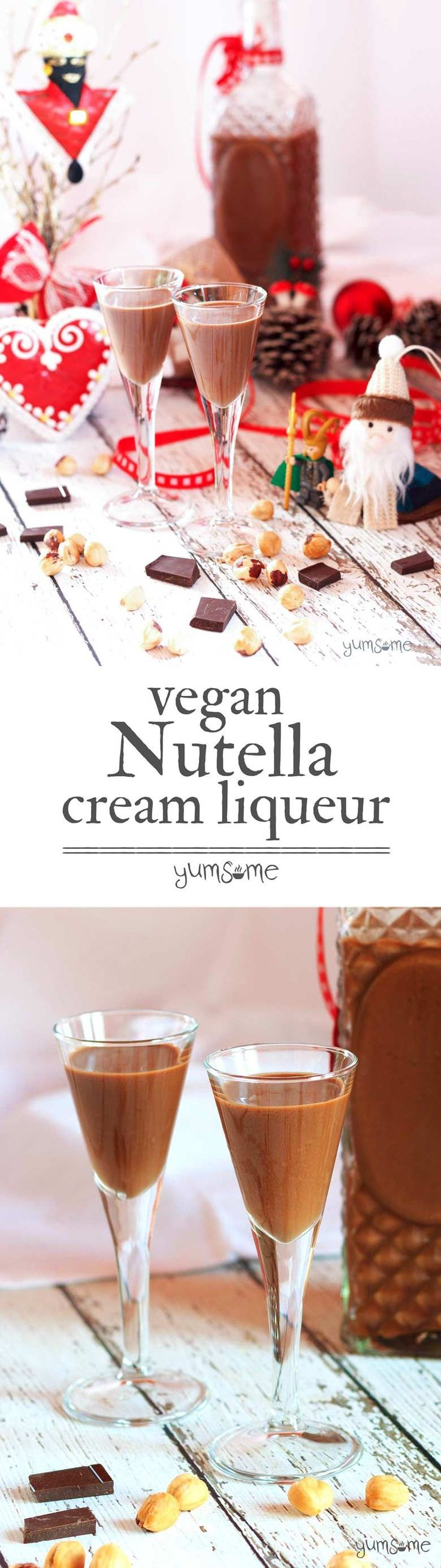 Home-made #vegan #Nutella cream #liqueur. Oh. My. Glob. | yumsome.com