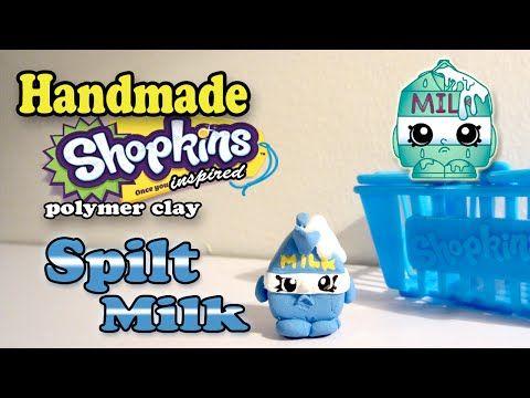 How To Make Shopkins Spilt Milk Polymer Clay Tutorial