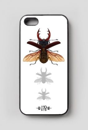 etui iPhone 5/5s,print on pillow, insects, beetles, stag beetle, entomology