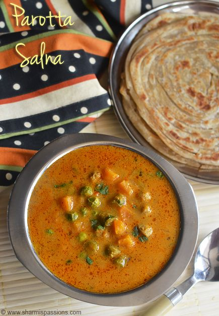 Vegetable Salna Recipe - Parotta Chalna - Sidedish for Parotta