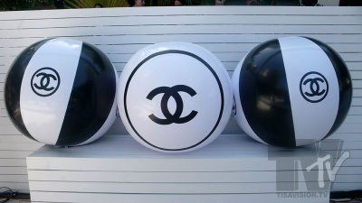 Chanel Beach Ball Pinned by TheChanelista on Pinterest