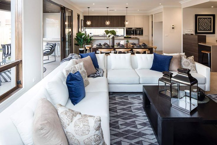 This welcoming living area is the perfect place to unwind. #weeksbuildinggroup #homedesign #interiordesign #newhome