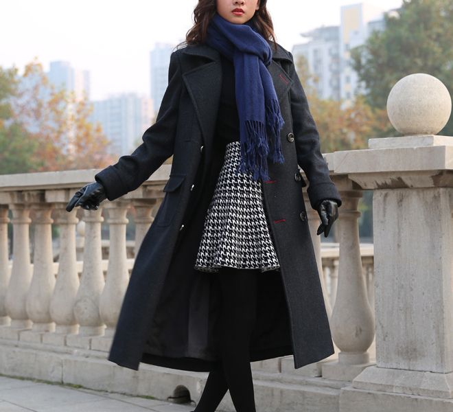 women Sherlock Holmes WOMEN Cape Coat Costume Wool Version with Muffler Scarf as Gift US $210.00