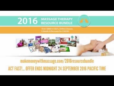 2016 Massage Therapy Resource Bundle | An Amazing Resource For Massage T...