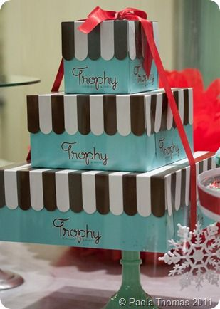 Stack of Trophy Cupcakes Boxes. #PartyPerfectCupcakes #ThePartyStartsHere #TrophyCupcakes