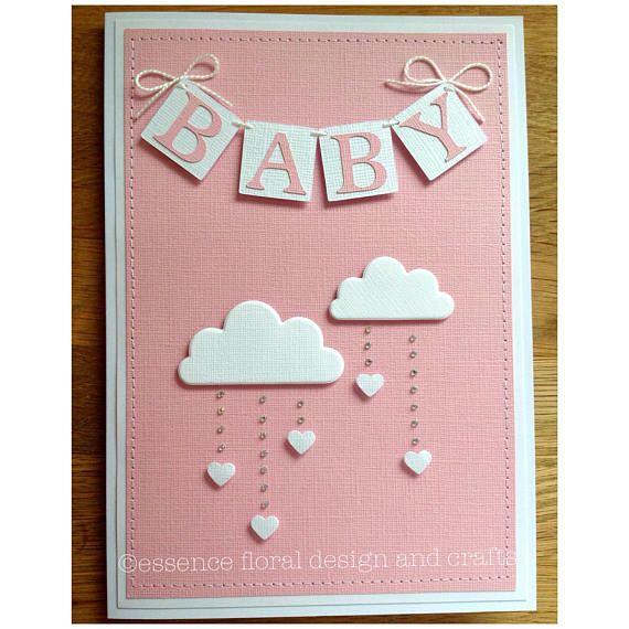 Babypartykarte für werdende Mütter Mädchen oder Jungen BITTE bei Bestellung pink oder blau angeben