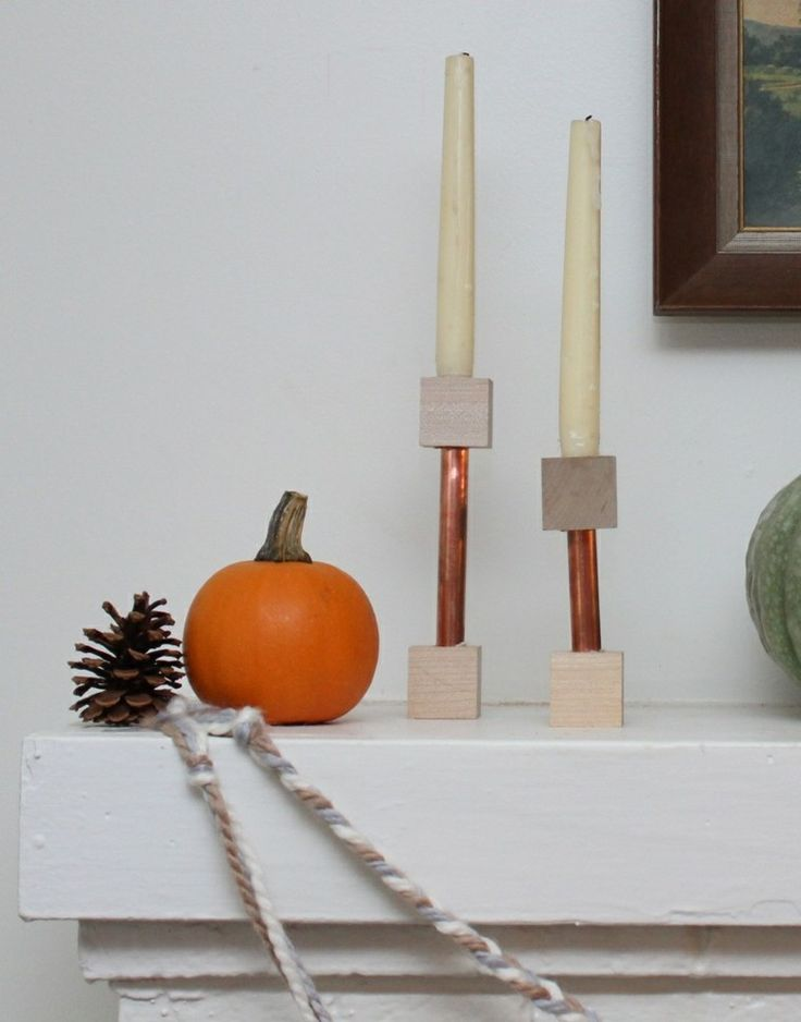candelabro manualidades preciosas velas romanticas madera acero chimenea ideas
