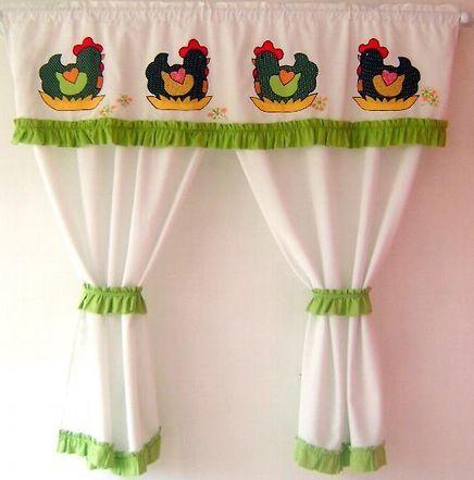 73 best cortinas con apliques para cocina etc images on - Cortinas para cocina ...