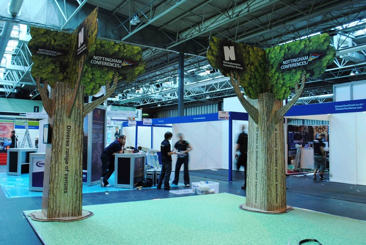 X-Board trees at a UK trade show