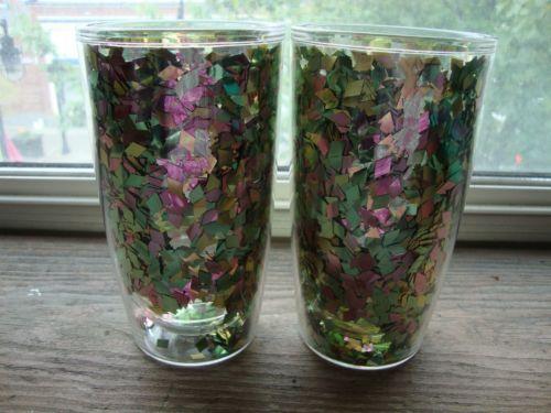 Very RARE Tervis Insulated Glitter Confetti Tumbler Large Size   eBay