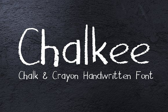 Chalk & Pencil Handwritten Font by SunsetWatercolors on @creativemarket