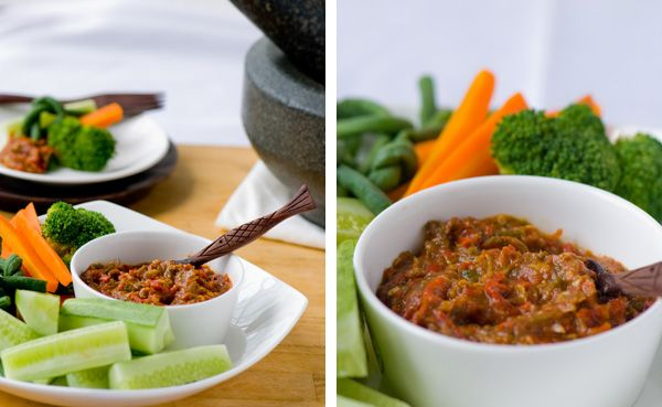 Sambal Belacan with Lalap Vegetables