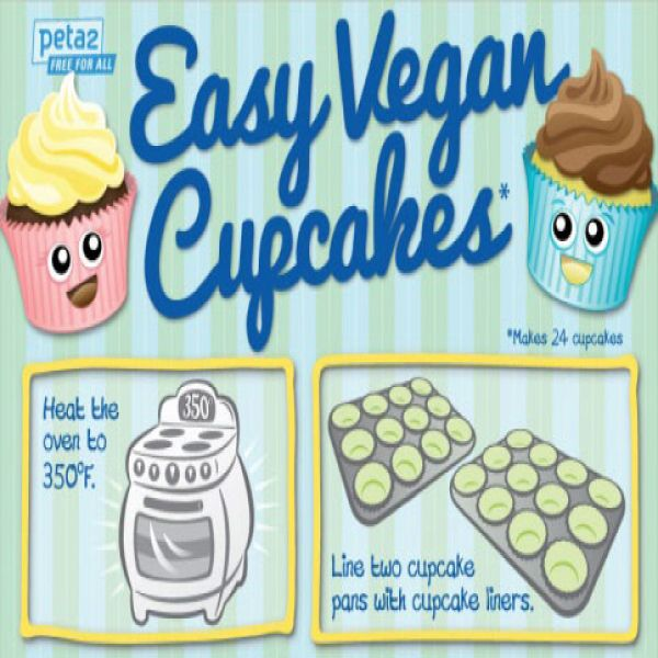Vegan Cupcakes Recipe: Easy, Moist and Delicious [by PETA via #Tipsographic]. More at tipsographic.com