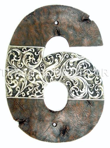 Western-House-Address-Numbers-Rustic-Silver-Floral-Design-Home-Decor-Large-9