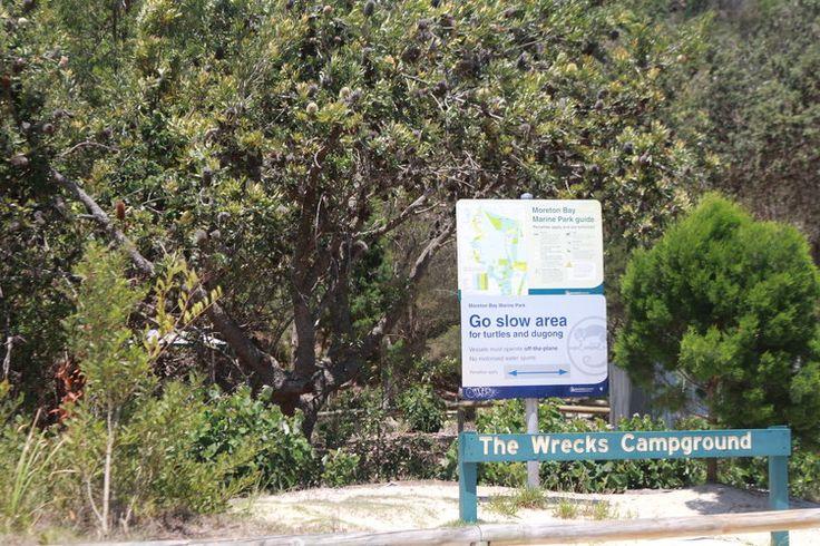 The Wrecks campground at Tangalooma on Moreton Island Australia