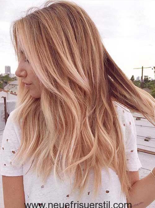 Warm Blonde Lange Haare 2018 Frisuren Pinterest Haar Ideen