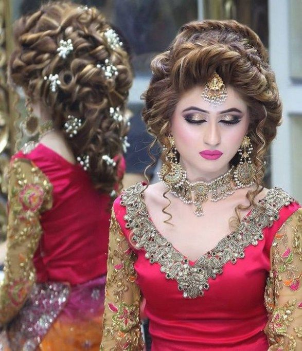 Indian Wedding Hairstyles For Brides 2017 2018: Latest Hairstyles 2017-2018 Trend For Girls In Pakistan