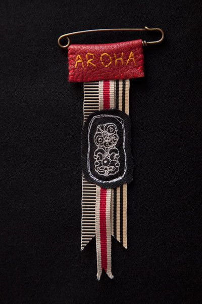 Honour Badge #2 By Rona Ngahuia Osborne for Native Agent (Wouldn't it be cool to make some badges to give away?)