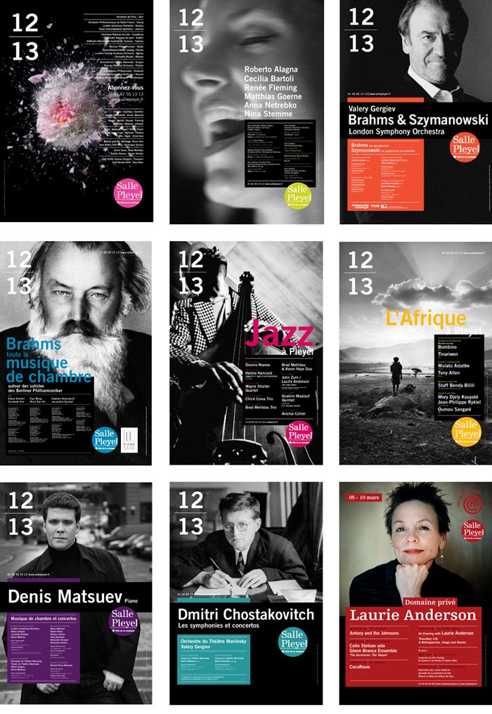Salle Pleyel 2012-13/ posters -