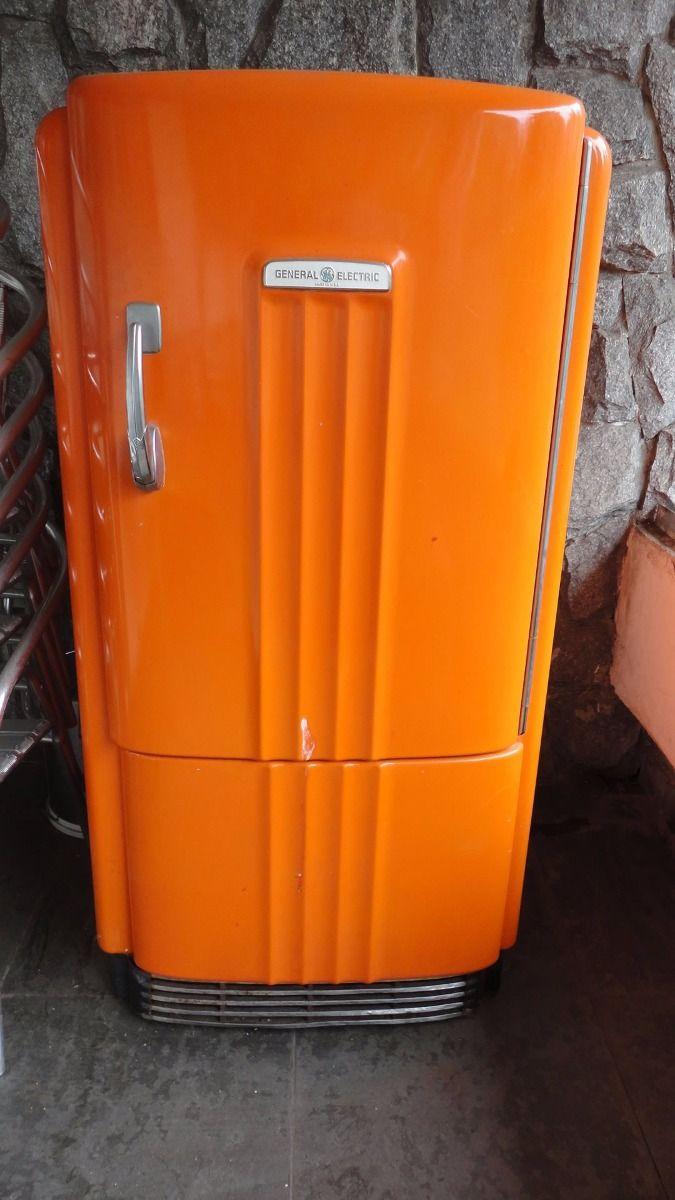 Geladeira Antiga / Retrô / Vintage Da General Eletric - R$ 2.600,00 no MercadoLivre