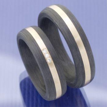 Carbon Roségold Eheringe P2093416