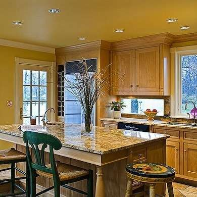 Painted Ceilings Yellow Kitchens And Warm Color Schemes On Pinterest