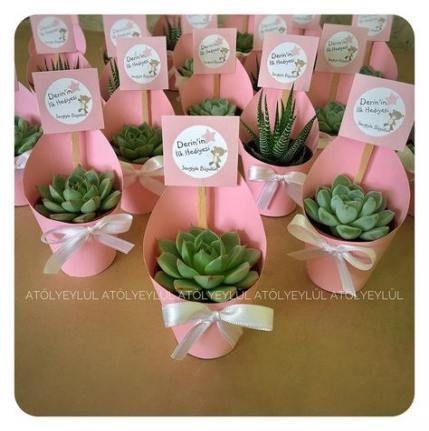 54  Trendy Baby Shower Souvenirs Recuerdos Succulent Favors #babyshower #baby #…