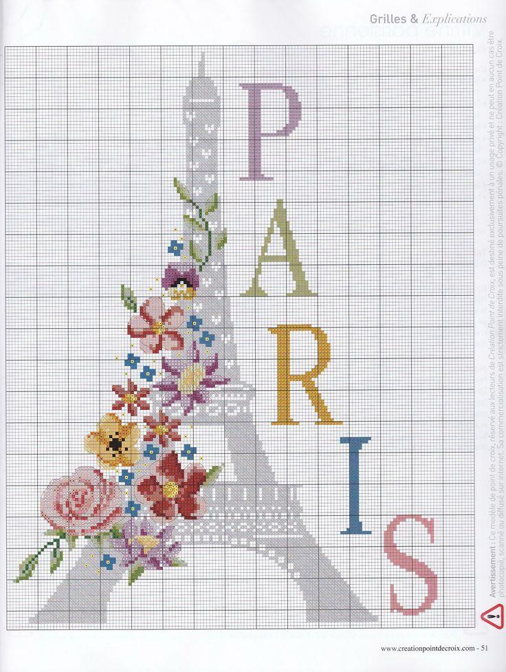 paris Cross stitch/hama/perler