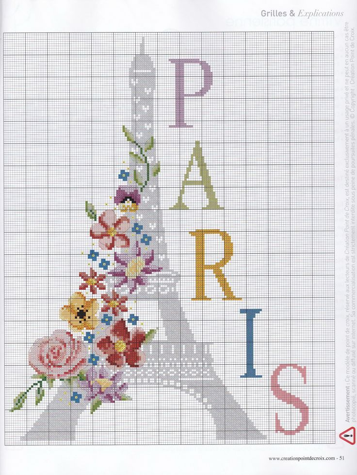 paris Cross stitch/hama/perler
