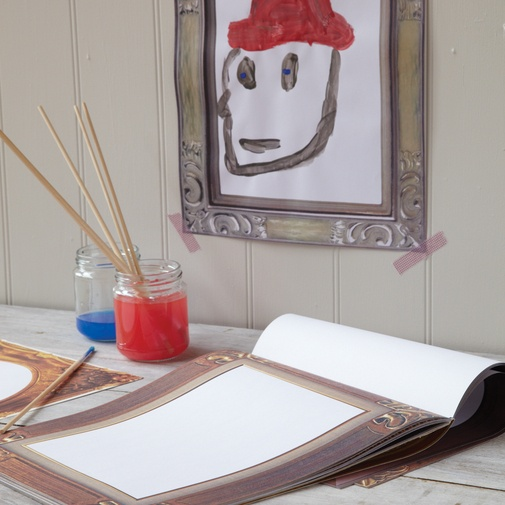 pad of paper with printed frames: Printed Frames, Kids Art, Picture Frames, Displaying Kids