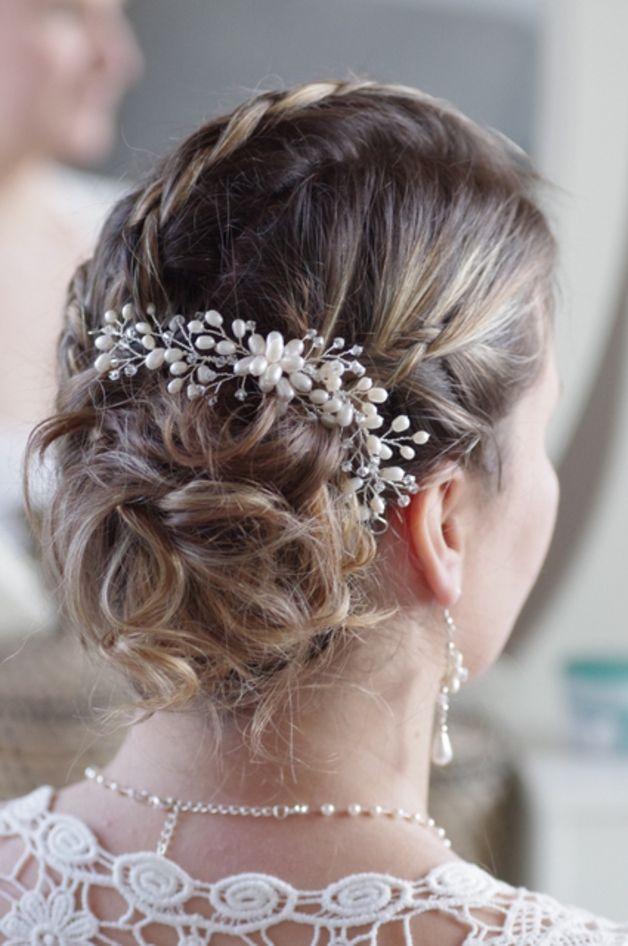 Braut haarschmuck mit perlen  15 besten Haarschmuck, Hochzeit Bilder auf Pinterest | Haarschmuck ...