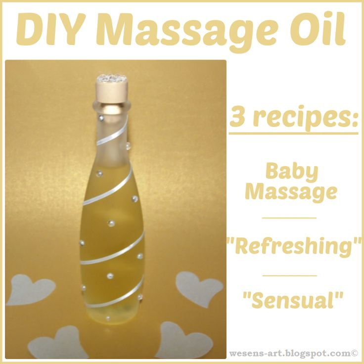 DIY Massage Oil  -  3 recipes