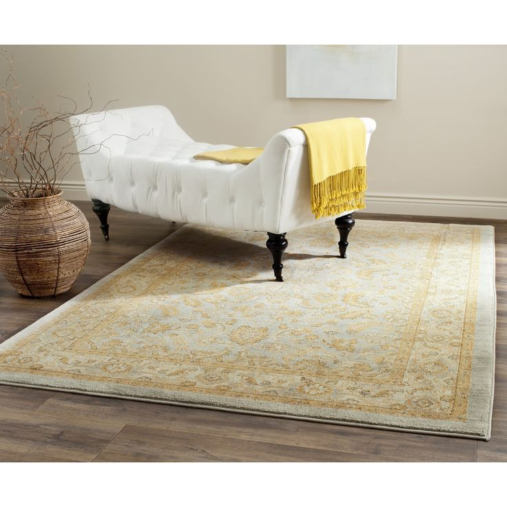 Safavieh Austin Traditional Light Blue/ Gold Rug (5u0027 3 X 7u0027 6