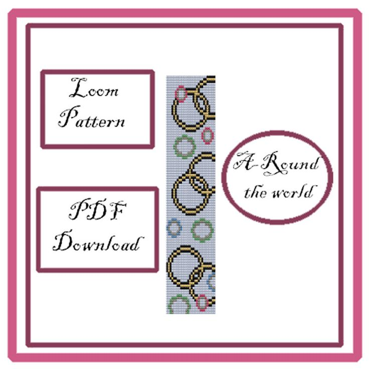Loom Pattern PDF Download di EsprimiUnDesiderio su Etsy