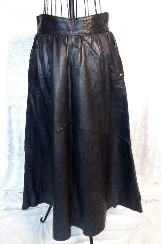 langer lederrock schwarz ca gr 36 lederrock braun. Black Bedroom Furniture Sets. Home Design Ideas