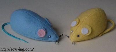 Мышка из фетра: мастер-класс